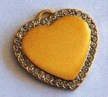 Stone Heart (M)	33x33 Silver or Gold