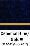 Cellestial Blue Gold Engraving