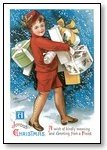 Christmas Cards boy walking Joyous Christmas 001