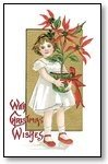 Christmas Cards girl with poinsettia 015