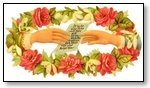 Floral rose wreath pair hands 001