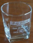 Engraved Whiskey Glasses x 6