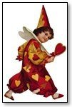 Valentine red gold hearts red wand 028