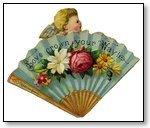 Valentine blue fan and flowers 039