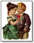 Valentine Girl and boy with rose 041