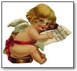 Valentine cupid in glasses with message 044