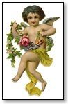 Valentine cupid dressed in flowers 045