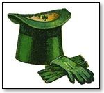 St Patricks Day green hat and gloves 099