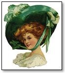 St Patricks Day woman in wide brim green hat 104