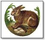 Easter Rabbit with eggs in hollow 120