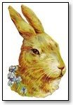 Easter Rabbit head and flowers 122