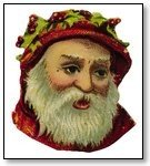 Christmas Santa face old world with red cap 260