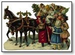 Christmas horse and sled with gifts 274