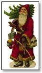 Christmas Santa traditional with tree 281
