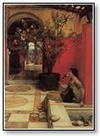 Art Seated woman in roman style foyer  002