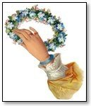 Blue wreath in hand 020