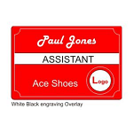 """Personal Engraved Name Tag 50 mm high (2"""") by chosen length"""