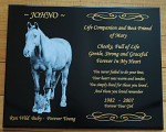 Corian Memorial 200 mm x size chosen