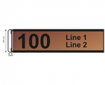 "Slide Mount Sign Length 100 X 40 mm ( 4"" x 1.6"" )"