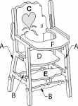 High Chair Doll house kit