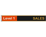 """Sign Replacement Length 500 X 60 mm ( 20"""" x 2.3"""" )"""