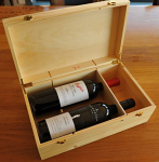 Wine bottle Pair Pine box