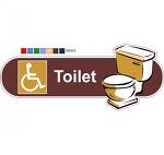 Disabled toilet ID sign