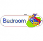 Bedroom Green ID sign