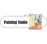 Painting studio room ID sign