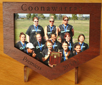 Timber engraved Photo Frame V shape 110 mm wide