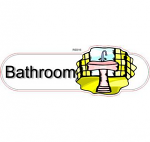 Bathroom ID sign