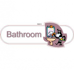 Bathroom male ID sign