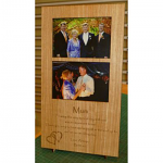 "Timber engraved Photo Frame 2 x 150 x 100 mm ( 6"" x 4"" ) Photo"