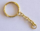 Key Chain Gold or Nickel