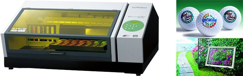 Roland LEF 20 printer UV cured colour white and gloss inks