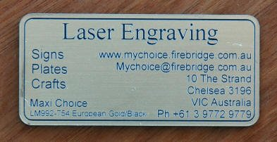 Maxi choice acrylic sign