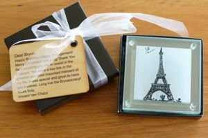 Coasters custom printed glass gift wrapped