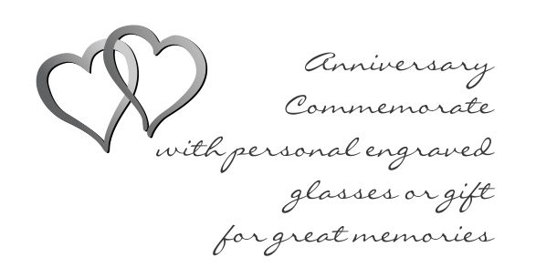 Engraved anniversary gift for long lasting memories