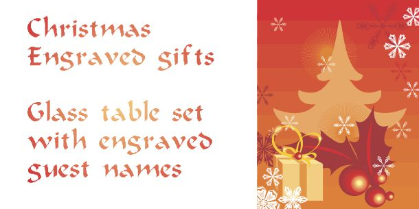 Engraved Christmas gifts and decorations