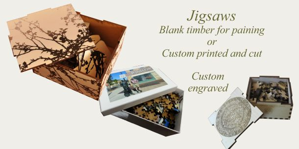 jigsaw puzzle custom printed or engraved