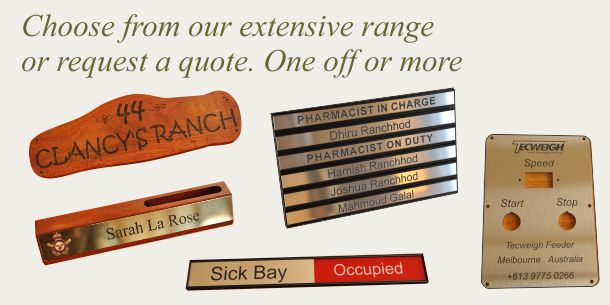 Name Plate | Quotation request MyChoice@Firebridge