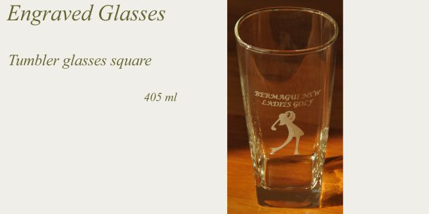 Engraved tumbler square tumbler glass