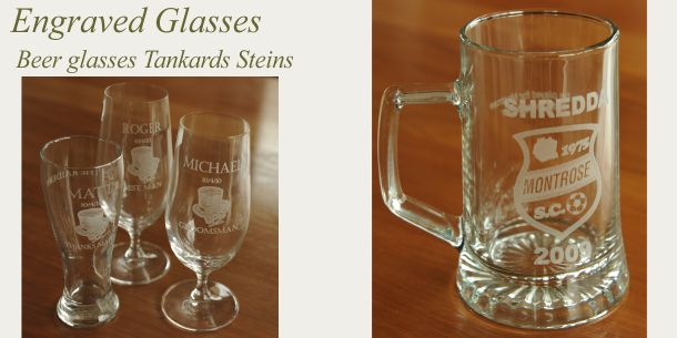 engraved beer glass tankard steins