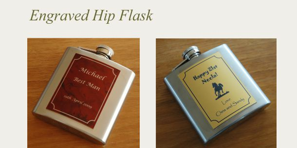 engraved hip flask stainless steel
