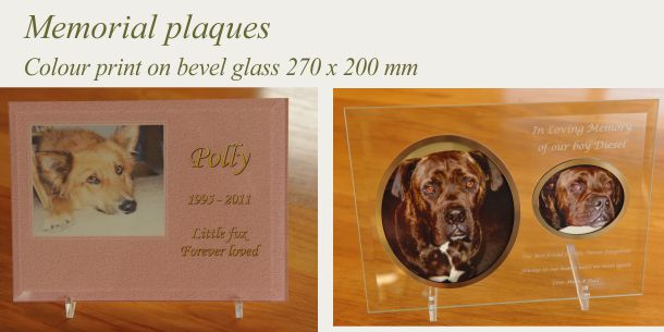 glass memorial printed 275 x 200 mm