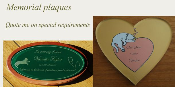 memorial plaque custom designed by quotation