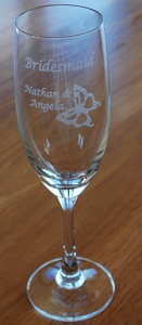 Champagne flutes Engraved set 6