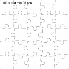 Jigsaw 190 mm Plain shape for you to paint