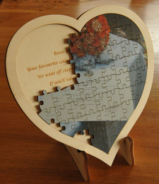 Jigsaw 190 mm Heart Your photo