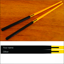 Chopsticks Two tone Gloss Melamine Engraved or Printed